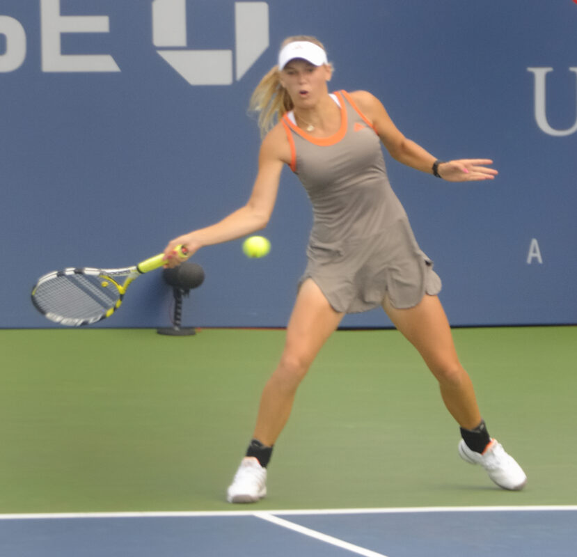 Wozniacki in US Open 2008